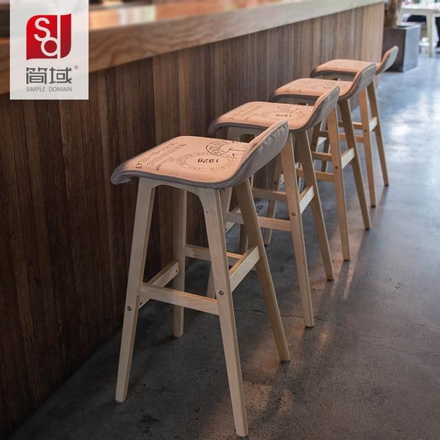 Jane Domain Past Wood Bar Stool Chair High Reception Leg Legs
