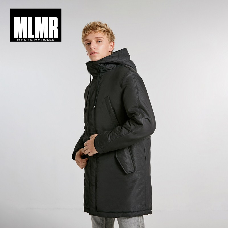 MLMR Men's Hood Drawstring Medium Style   Parka   Coat Quality Outerwear Menswear 218409514