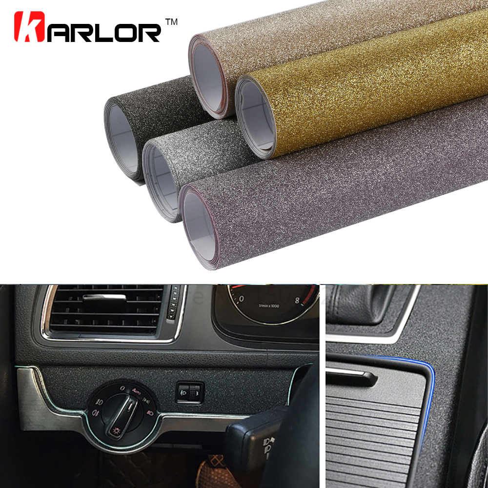 10*100cm Matt Glitter Bling Diamond Vinyl Films Wrap Car Styling Sticker Flash Point Matt DIY Internal Decal Automobiles Truck Toyota Land Cruiser