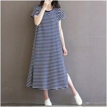 Maternity Clothes Short Sleeve Summer Dress Pregnant Women Stripe Loose Plus Size Maternity Dresses Hot Pregnancy