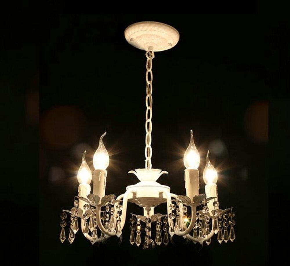 Lampadari Da Camera Matrimoniale Ikea us $31.0 |bianco ferro lampadario di cristallo moderno apparecchio di  illuminazione per le ragazze camere da letto sale da pranzo cucina ad isola