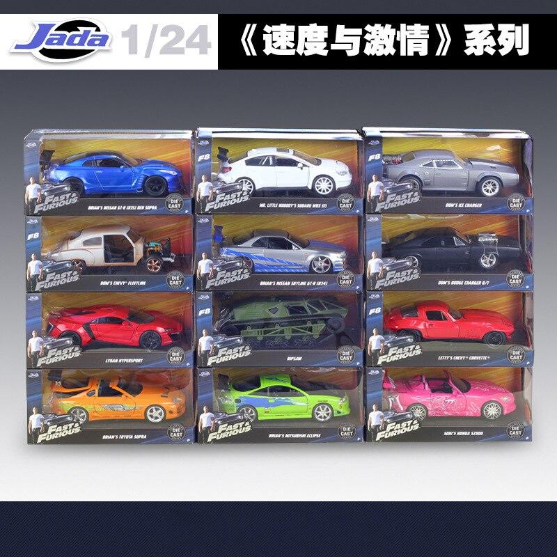 1:24 Jada haute simulateur classique métal rapide et furieux alliage moulé sous pression jouet voitures modèle jouet pour enfants anniversaire cadeaux Collection