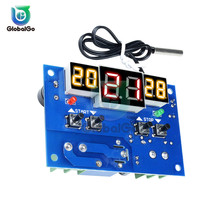 Intelligent Digital LCD 3 Display Temperature Controller Regulator Thermostat Thermometer with NTC  Sensor W1401 DC12V DC24V стоимость