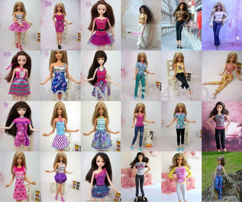 15 Items Mix Style Doll Princess Skirt Shirt Tops Pants For Barbie Kurhn Doll Accessorise Christmas