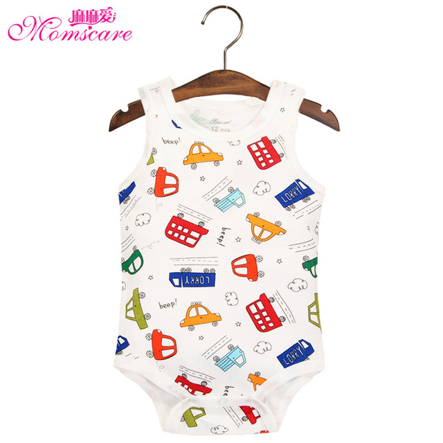 75cc76b9b Mom s care Baby Bodysuit Sleeveless 100% Cotton Body Clothes Wear ...