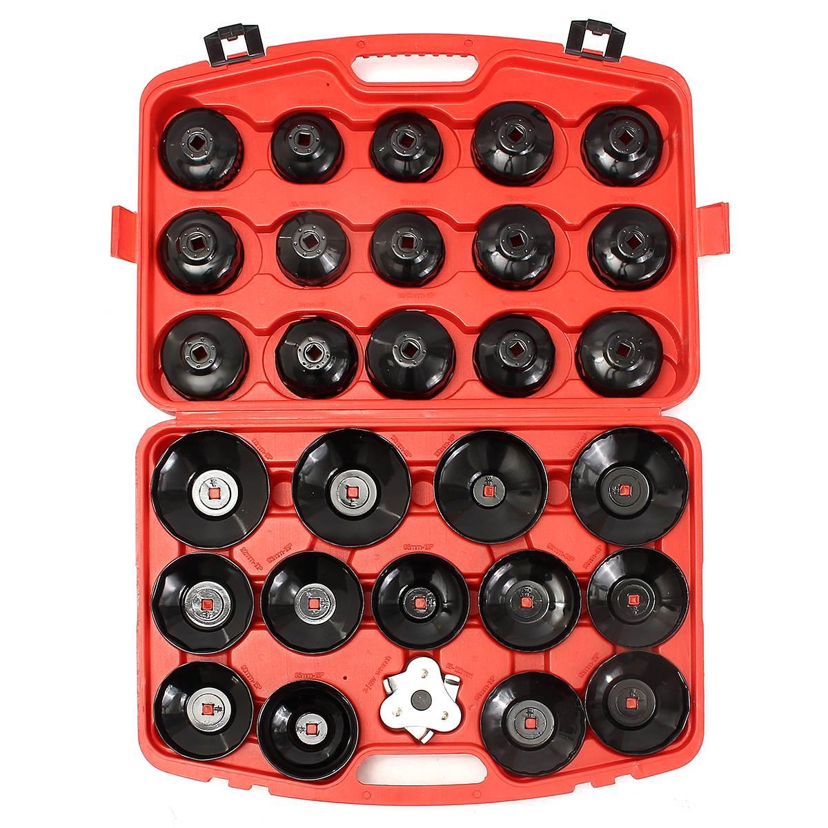 цена на 31pc Oil Filter Removal Wrench Cap Car Garage Tool Set Loosen Tighten Cup Socket