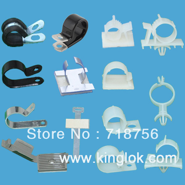 R type cable clips Metallic Cable Clip Adhesive Wire Saddle Locking ...