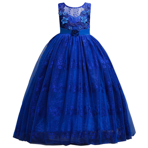 Image 5 - Princess Long Lace Flower Girl Dresses Applique Girls Pageant Dresses First Communion Dress Kids Wedding Party Gown