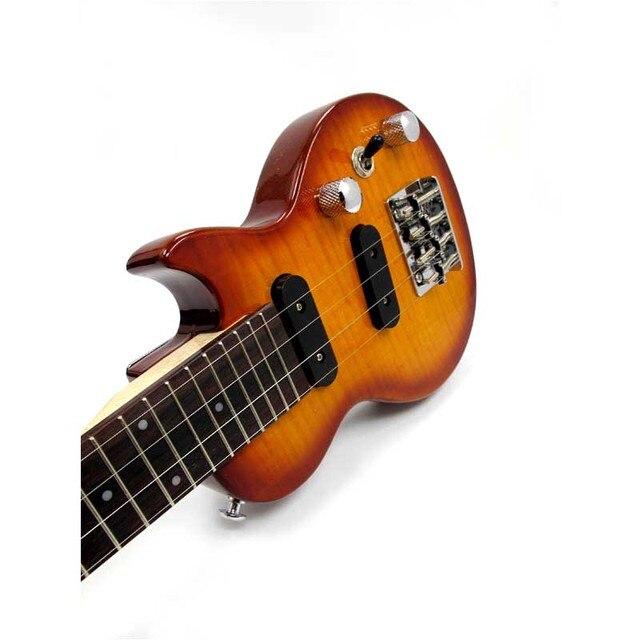More Color Acoustic Concert Electric Ukulele 23 24 Inch LP Mini Hawaiian Guitar  4 Strings Ukelele Guitarra Guitarist
