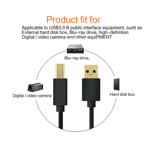 Image 3 - USB 3.0 케이블 유형 A 남성 B 남성 케이블 초고속 동기화 데이터 인쇄 케이블 2M 2.5 3.5 인치 HDD/SSD 하드 드라이브