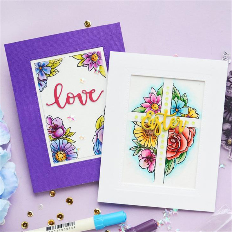 Eastshape Strip Border Frame Metal Cutting Dies Scrapbooking Rectangle Background for Card Making Album New Dies for 2019 in Cutting Dies from Home Garden
