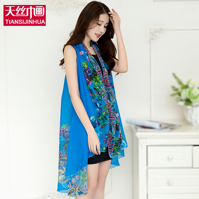 9cc6e620c9997 2017 Beach Cover Up Pareo Floral Print Silk Scarf Bikini Swimwear Women  Kimono Cardigan Chiffon Wrap Shawl Beach Sarong Dress | imarket online  shopping