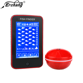 Erchang Fish Finder Wireless Portable Touch Screen 50M/150FT Sonar Depth Echo Sounder Alarm Ocean River Lake For Fishing