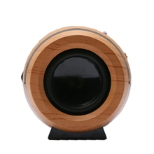 Oval Wood Grain Classical Beer Barrel Wireless Bluetooth Speaker Support TF Card – L060 New hot