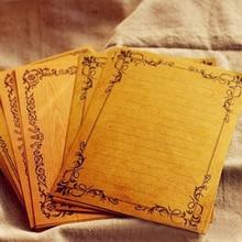 TIAMECH 8Sheets/Lot European Style Vintage Lace Vine Wood Kraft Paper Letter Writing