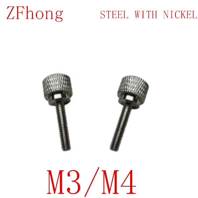 20pcs/lot M3 M4 steel with nickel Flat Head step Thumb Screw /Round Head Knurling Hand Twist Screw/Hand Tighten Screws stephen weiss l the big win learning from the legends to become a more successful investor