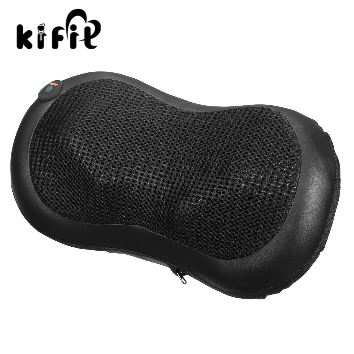 KIFIT Electric Massager Body Lumbar Massage Pillow Cushion Neck Knead Shoulder Back Home Car Health Care Tool kifit convenient handheld ice cooling roller facial skin care beauty face body massage home used health tool