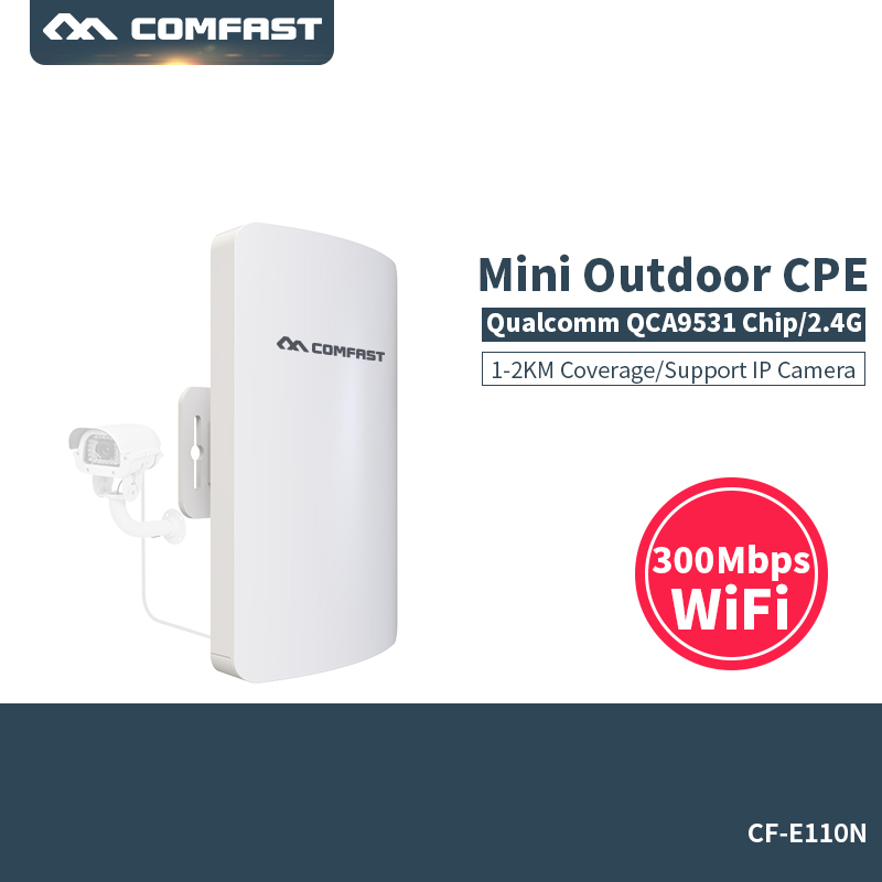 300Mbps Wireless Access Point Outdoor CPE WIFI Router WIFI Amplifier Comfast CF-E110N WIFI Bridge Nanostation WI-FI comfast wireless outdoor router 5 8g 300mbps wifi signal booster amplifier network bridge antenna wi fi access point cf e312a