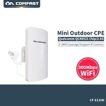 300Mbps Wireless Access Point Outdoor CPE WIFI Router WIFI Amplifier Comfast CF E110N WIFI Bridge Nanostation