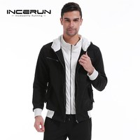 INCERUN Men's Thick Fleece Hoodies Sweatshirt 2018 Winter Hooded Zipper Cardigan Jacket Mens Male Casual Full Zip Up Sweats Coat