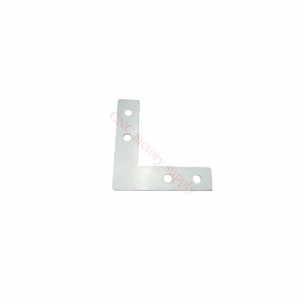 2020 L type T type cross plate joint aluminum connector EU standard 20/30/40 series industrial Aluminum Profile Accessories 3D t slot l shape type aluminum profile accessories interior corner connector joint bracket for 20 30 40 45 profile