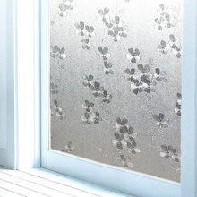 3D Petal stained glass film window cover stickers Frosted Opaque Static Cling Self-Adhesive home decorative vinyl films 45x500cm