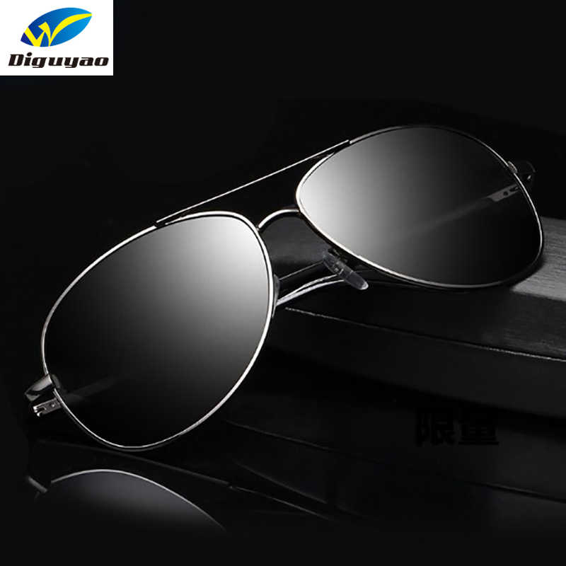 31bbbcb9cee79 DIGUYAO 2018 Fashion Classic men design sun Glasses Large Metal frame Brand Polarized  Sunglasses Driving Mirror