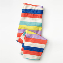 Girls Pants Legging Jumping-Meters Kids Trousers Autumn Children's Stripe Multi-Colors