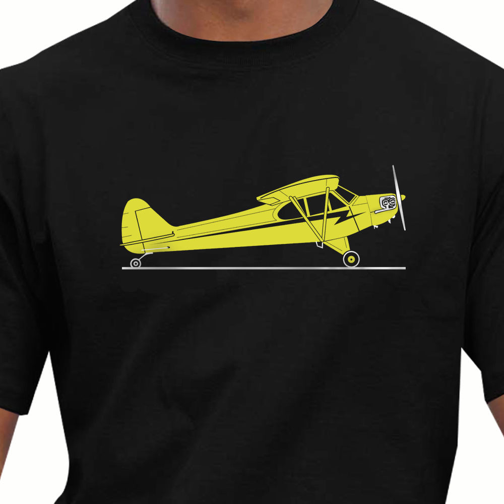 2018 Men T Shirt Fashion Cheap Crew Neck Men'S Top Tee Aeroclassic Ppl Pilot Piper Cub Aircraft Inspired T Shirt