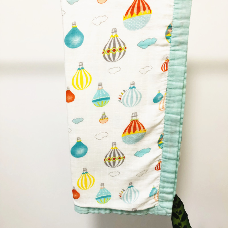 Watermelon Quilt Four Layer Bamboo Baby Muslin Blanket  Muslin Tree Swaddle Better Than Anais Baby/bamboo Blanket Infant Wrap