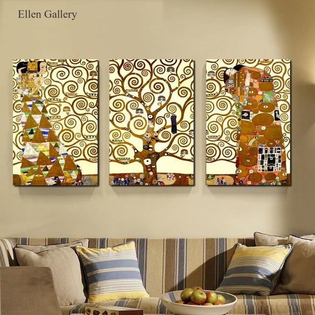 3 piezas árbol abstracto lienzo pintura Cuadros para sala Quadro ...