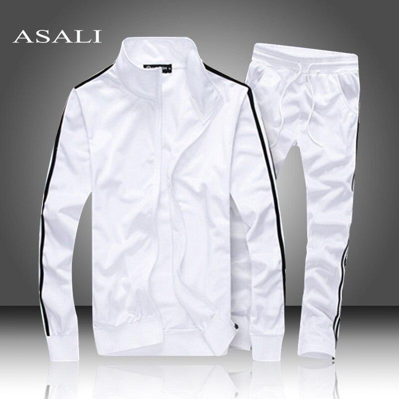 Coat Jacket+Sweatpant Suit 2019 Cardigan Tracksuit Winter Autumn Male Casual Men's Solid Color Hoodies Sweatshirt Tops Men/Women