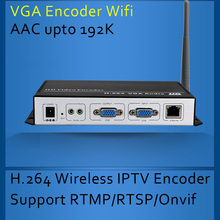 H.264 Wireless VGA Encoder for IPTV broadcasting Support RTMP and Onvif VGA WIFI Encoder(China (Mainland))