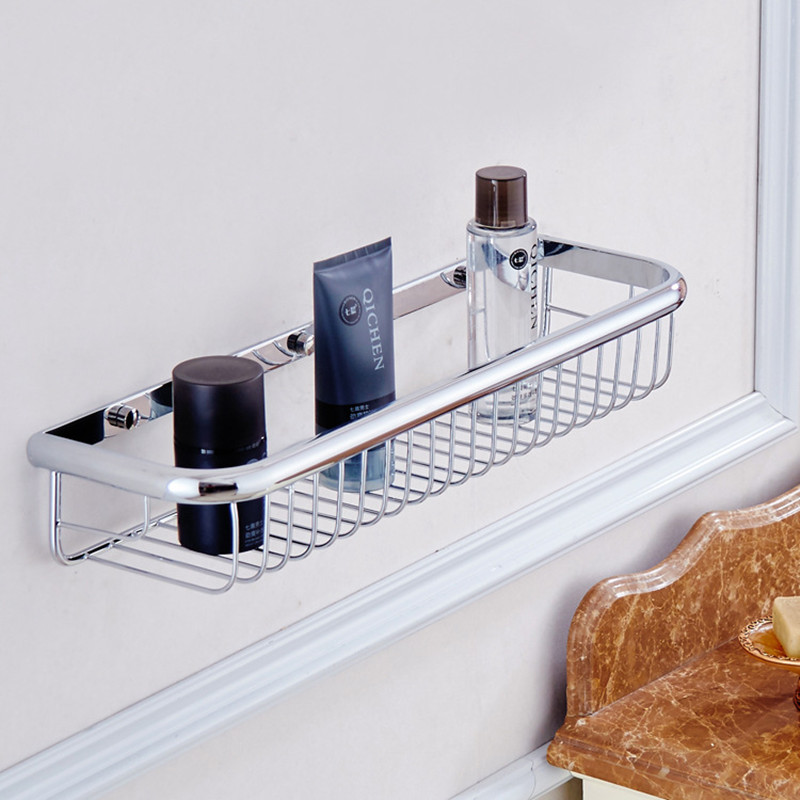 Aothpher 45 CM Chrome Square Holder Bathroom Accessories Toilet Basket  Wall Mounted Roll Tissue Holder Bathroom