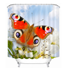 3D Butterfly Swan Pattern Shower Curtains Nature Animal Bathroom Curtain Waterproof Thickened Bath Curtain Customizable laurie joseph elements of homoeopathic practice of physic