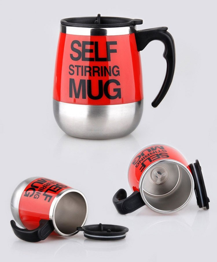 450ml Stainless Steel Self Stirring Mixing Mug Protein Shaker Multifunction Smart Mixer Blender Cup Automatic Electric Coffee Mugs (8)