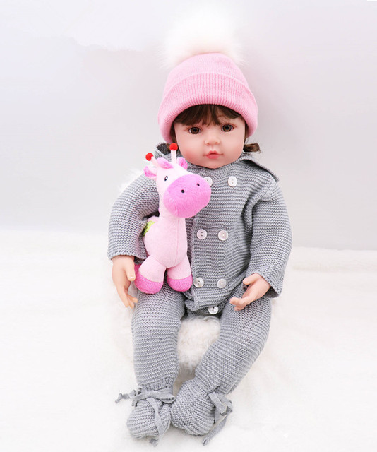 60 cm nouveau design Silicone Reborn bébé poupée jouets 24 pouces vinyle princesse enfant en bas âge fille bébés poupée cadeau danniversaire jouer maison jouet