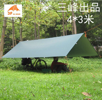 3F Ul Gear Ultralight Beach Awning 4 3m Tarp 210T Silver Coated Sun Shade Shelter Pergola