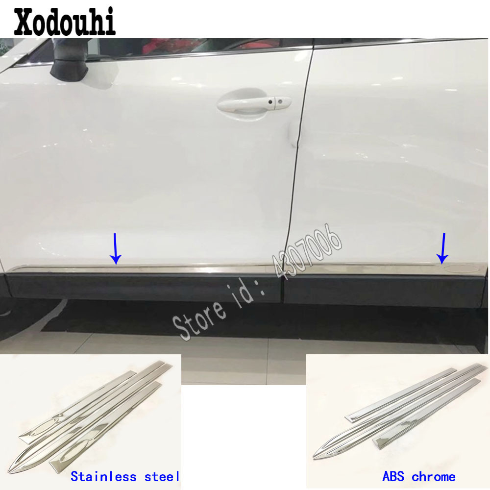 For <font><b>Mazda</b></font> CX-5 <font><b>CX5</b></font> 2nd Gen 2017 <font><b>2018</b></font> 2019 2020 Car Stainless Steel/ABS Chrome Side Door Body Trim Stick Strip Lamp Panel Molding image