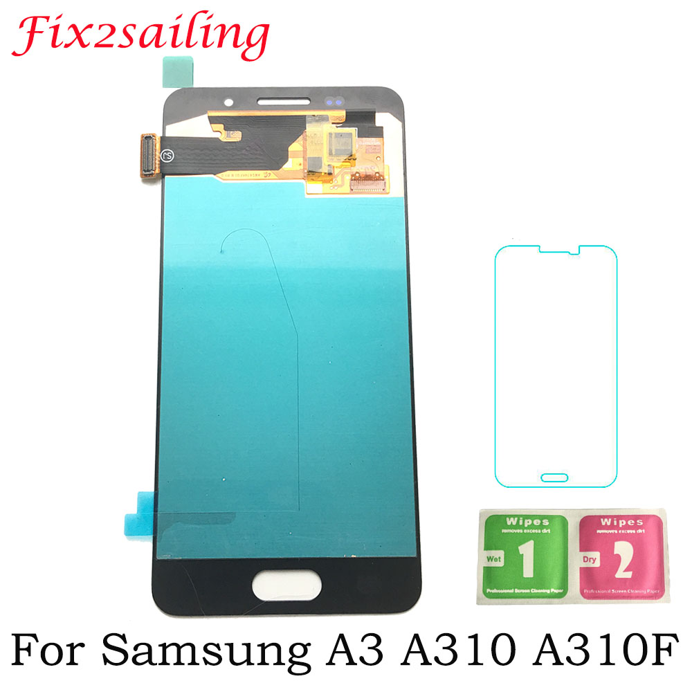 Super AMOLED Tested Display Screen For SAMSUNG Galaxy A3 2016 A310 A310F A310H A310M A310Y LCD Display + Touch Screen Digitizer Super AMOLED Tested Display Screen For SAMSUNG Galaxy A3 2016 A310 A310F A310H A310M A310Y LCD Display + Touch Screen Digitizer