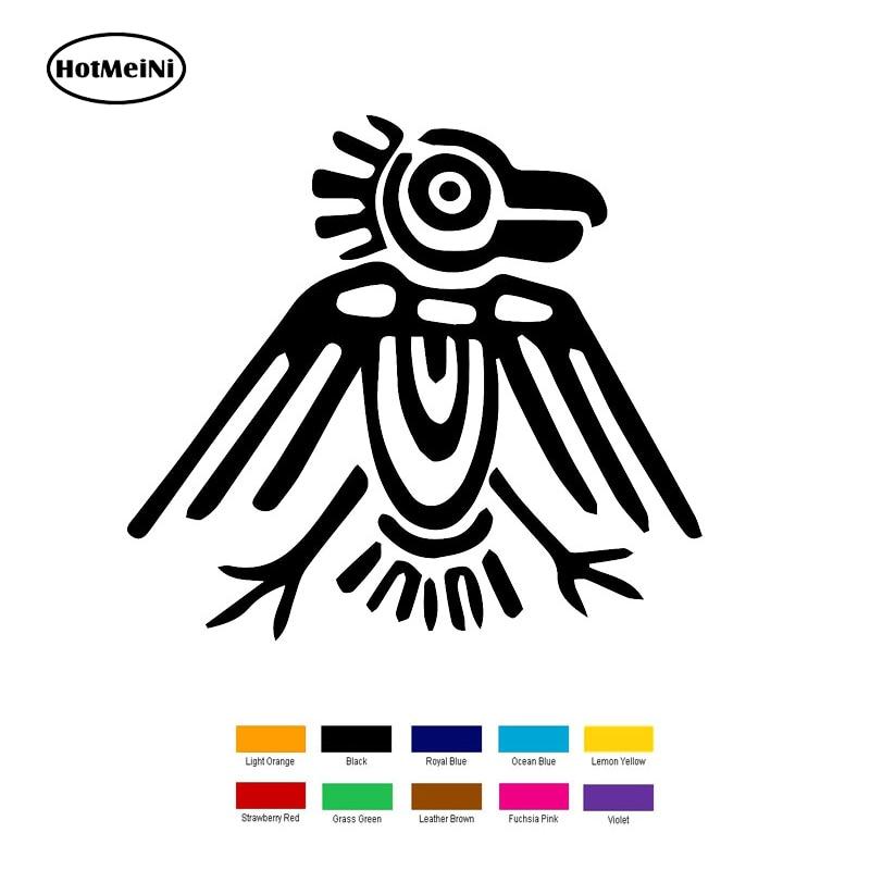 HotMeiNi 15cm x 15cm Aztec Ancient Symbol Car Sticker For Truck Window Bumper Auto SUV Door Laptop Kayak Vinyl Black/Sliver