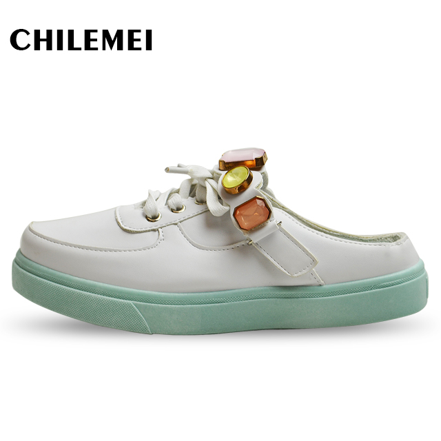 Great Young Girls Slipper Solid Leather Waterproof Garden Shoes Party Shoes  Slipper Elastic Band Flat With Terlik Casual Shoes Leisure