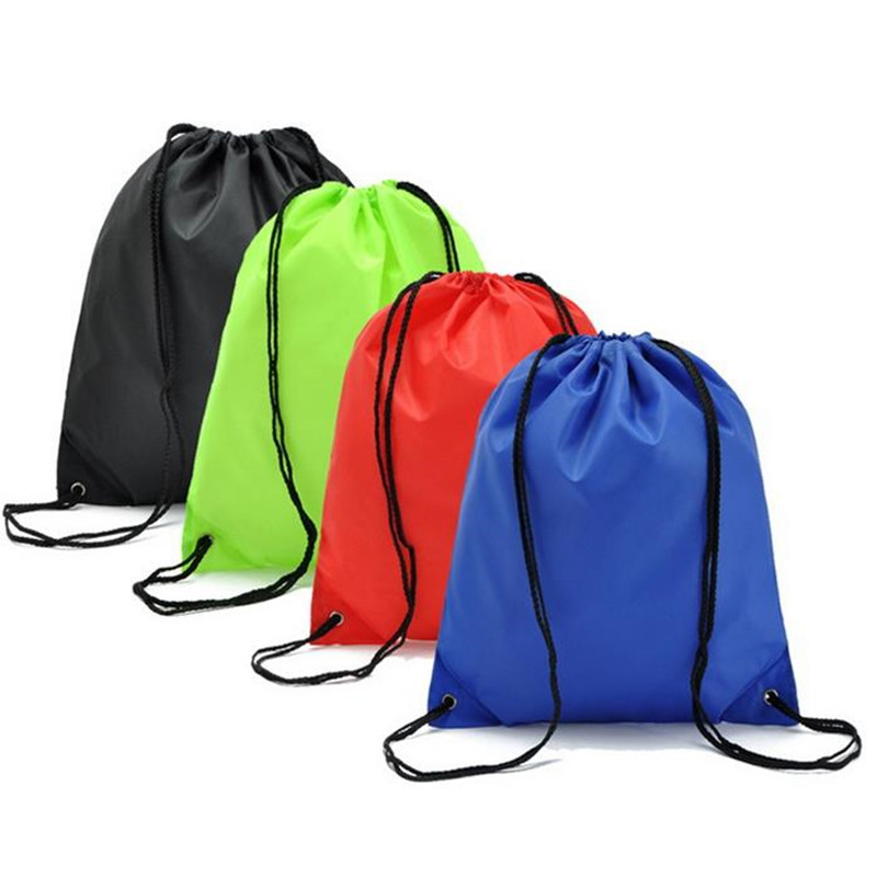 Backbag Gym Storage Travel Bag Oxford Sports Drawstring Belt Riding Backpack Shoes Container Bag Clothes Organizer Waterproof