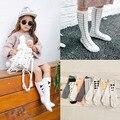 Мода Горячие Стиль Хлопок Колен-Высокие Носки Девочка Бантом Носок детские Носки Причинным Чулки 8 Стили Девушка аксессуары