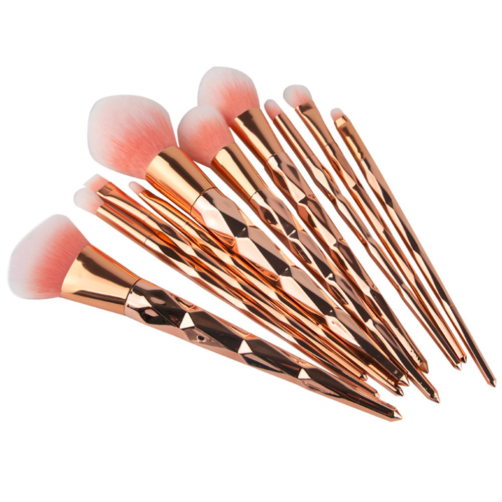 Aliexpress.com  Buy 10pcs Multifunctional Diamond Rose Gold Makeup Brushes Set Eye Lipstick ...