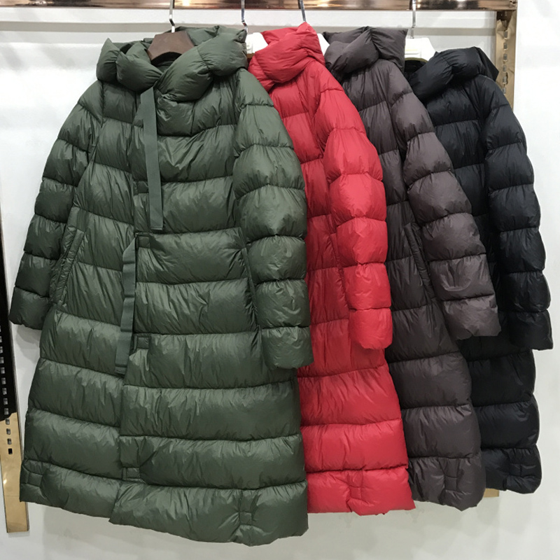 2018 Winter Jacket Women 90% White Duck   Down   Jacket Female Long   Down   Parkas Loose   Down   Jacket Snow Warm Hooded Women's   Down     Coat