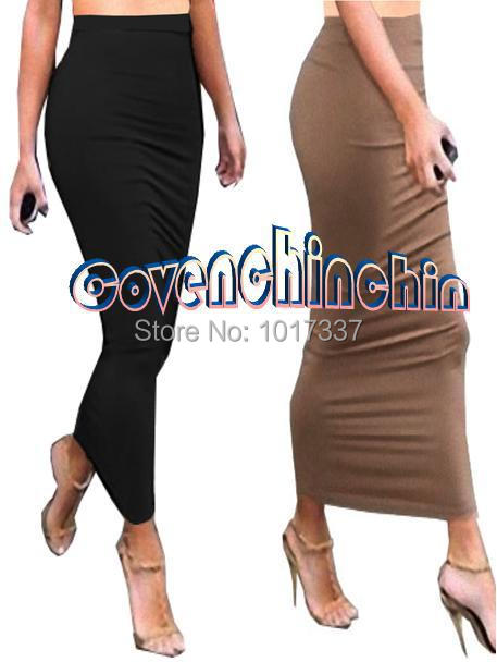 Black Long Tube Skirt - Dress Ala