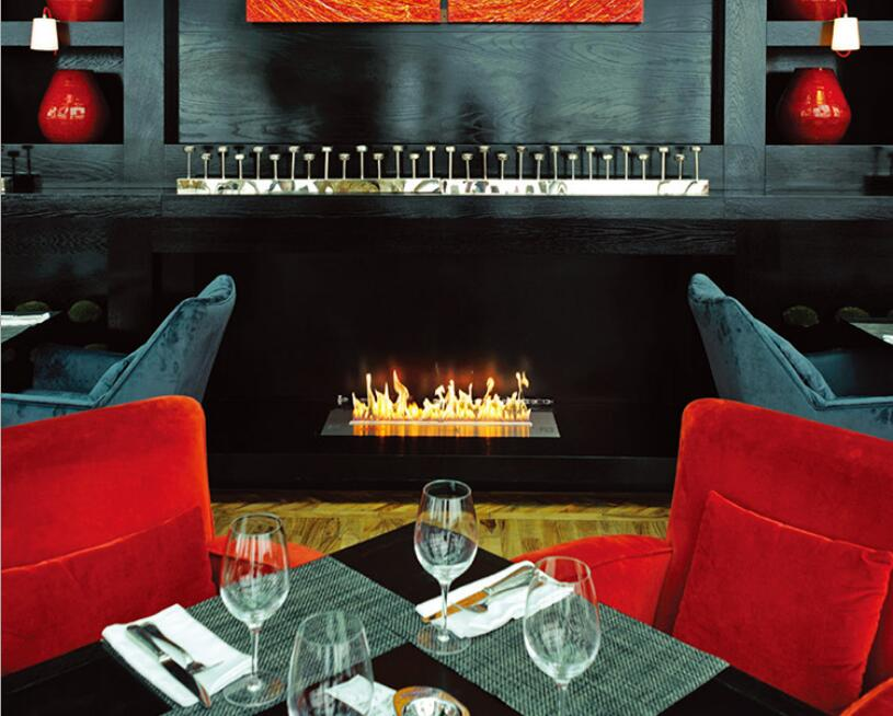 30 Inch Real Fire Electric Intelligent Smart Bio Ethanol Fireplace Wall Mounted
