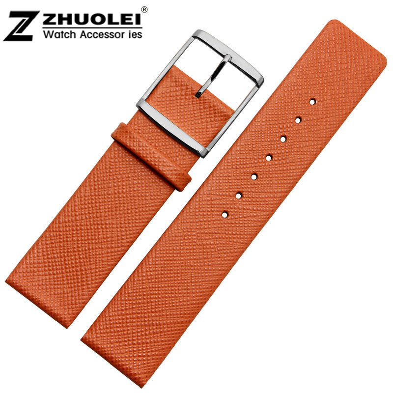 New style Genuine Leather Watch band watch strap bracelets 14 16 22mm Gewen Male and female
