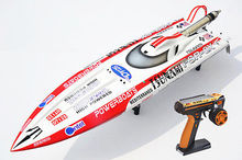 49″ 2.4G Remote Control 30CC Gas RC Racing Boat Vee DT125 Monohull Veep ARTR Radio Controled RC Boats